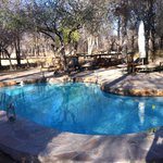 The pool/dinner area (winter-dry seaso