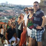 Perched above Douro River, our group