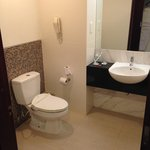 ample space but don't expect high-quality (new) sanitary ware...