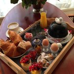 Breakfast tray - a treat every morning!!!