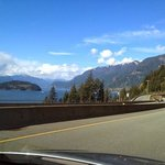 Driving up the sea to sky highway
