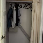 Wardrobe with the safe, the iron and iron board were also in this area