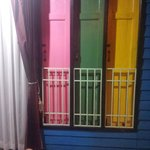 Colored window shutters