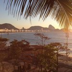 View of Copacabana beach from hotel restaurant