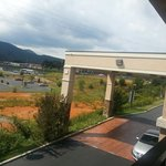 beautiful view of the smokies from the top floor
