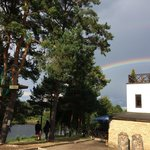 Rainbow over hotel Zuvedra.