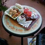 Very nice breakfast, served on the terrace