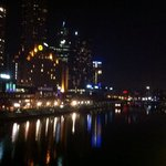view across Yarra River at Night from Southbank ( location shot)