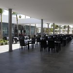 Another view of the outside dining area