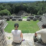 A much needed break after climbing Caana at Caracol