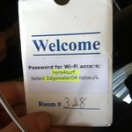 wifi id conveniently on the key card