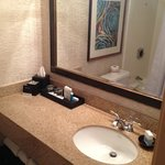 Vanity inside bathroom