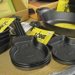 Guitar-shaped cast-iron pans