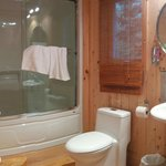 bathroom with laundry on other side, not seen in picture, chalet 6 - Le sous-bois