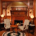 Inglenook with Gas Fireplace, also for Dining