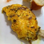 Delicious Omlette with mushrooms and cheese
