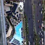 58th floor, looking down on pool and Strip.