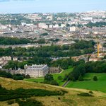Holyrood Palace from above.