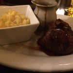 Filet mignon with smashed potatoes