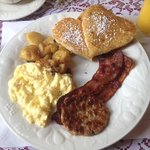 Delisious sampler breakfest. Wolfgang is an amazing German cook. Loved the heart shaped blueberr