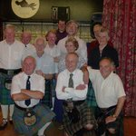 A Birthday Dancer celebrated her 75th with many Kilted Dancers