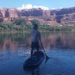 calm water paddle on Colorado river north of Moab w/Canyon Voyages