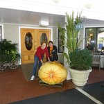 Entrance to Hotel.  Now that's one GIANT local pumpkin.