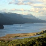View of Columbia River from Vista House, Columbia River Highway, Corbett, OR