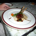 Lamb at the french resturant
