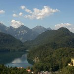 View of the Alps and Hohenschwangau, located about 5 minutes from Gasthof Hanselewirt