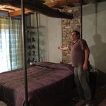 "Owner Giulio showing the ""love"" room"