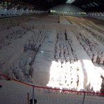 Inside Pit No.1 with the Terracotta Warriors