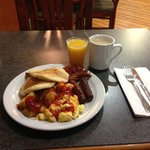 Sample breakfast plate.