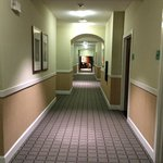 Hotel hallway on third floor