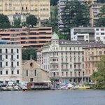 Hotel from Lake Lugano