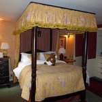Our four poster... more comfortable than it looks!