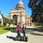 In front of the Texas State Capitol.