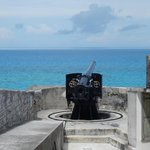 One of the many canons at Fort St. Catherine