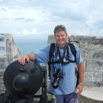 Me at the canon on the very top of Fort St. Catherine