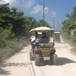 rented golf carts as our mode of transportation while there