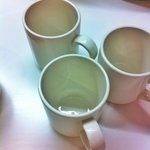 Cups taken from 'CLEAN' shelving