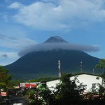 Arenal view from the room balcony