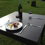table on the grass