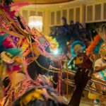 Junkanoo parade through the lobby