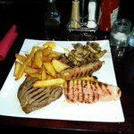 Mixed grill with homemade chips!