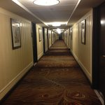 Long hall to our room