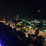 Night view from rooftop lounge