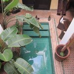 a pool you can not resist after a long walk in the Medina
