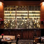 THE Blvd Restaurant boasts a gorgeous backlit wine display containing over 1,000 bottles