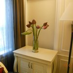 Lotus flowers in our room at Meallion